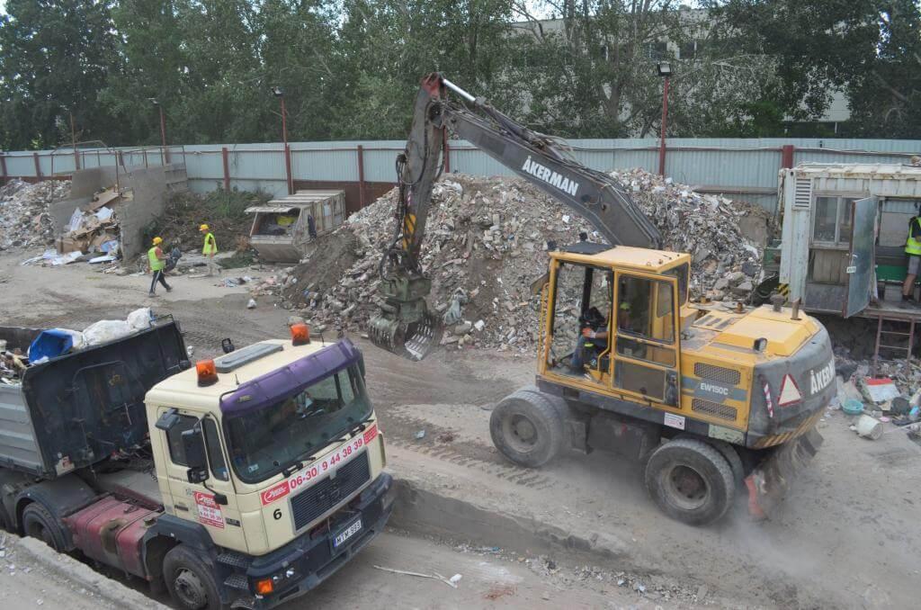 építési bontási hulladék lerakó Városliget