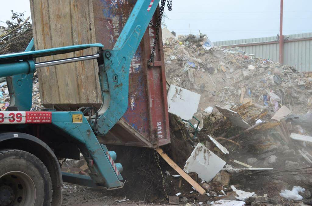 lakossági hulladékudvar Újhegy